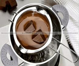 chocolate panning 2018 - Wholesale- New Chocolate Melting Bowl Butter Melt Pot Stainless Steel Pan Kitchen Tool SMB 40116972 cheap chocolate pann