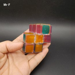 fun gifts for christmas NZ - Fun Transparent 1x3x3 Speed Magic Cube Puzzle Game Brain Toy Educational For Children Kid Christmas Gift