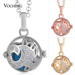 $enCountryForm.capitalKeyWord Australia - Pregnant Necklace Jewelry 3 Colors Cubic Zircon Angel Ball Necklace with Stainless Steel Chain VA-368