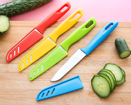 $enCountryForm.capitalKeyWord Canada - Colourful Knife Fruit Knives Vegetable Paring Parer ABS Handle Durable Portable Kitchen Tools High Quality free shipping