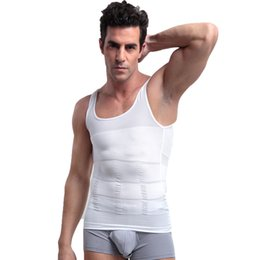Chemises Sexy Pour Homme Pas Cher-S-XXL Body Shapers Confortable Belly Shaper pour TV Slimming Shirt Boy Body Shapewear Elimination Sexy Girdles Of Male Beer Belly