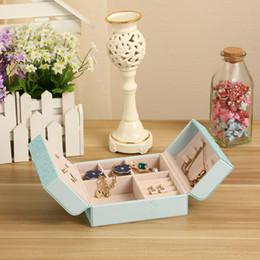 $enCountryForm.capitalKeyWord NZ - 15*15*6.5cm Creative Bowknot Design Jewelry Storage Box Travel PU Leather Jewellery Organizer Case Necklace Earrings Bracelet Container