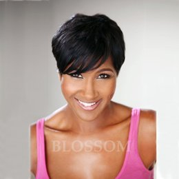 $enCountryForm.capitalKeyWord Canada - Short Wigs With Baby Hair For Black Women Brazilian hair Glueless Full Lace Wig Human Lace Front Bob hair Wig None Lace Wig