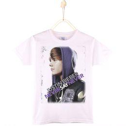 $enCountryForm.capitalKeyWord NZ - 2017 Hot Sale Children Clothes Kids T-shirts 100% Cotton O-Neck Justin Bieber Print Teens Boys T Shirts Girls Tops Free Shipping
