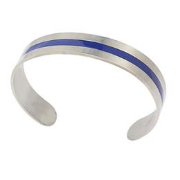 $enCountryForm.capitalKeyWord Canada - Fashion Enamel Bangle 13mm Wide Blue Enamel Stainless Steel Bangle & Bracelet for Men Women Brush Cuff