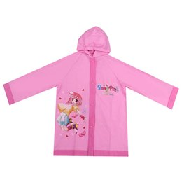 8b5294268 Lindo de dibujos animados al aire libre niños Boy Girl capa de lluvia Kids  Poncho PVC chaqueta impermeable a prueba de agua traje de lluvia para niños