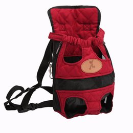 Chinese  Portable Breathable Puppy Pet Dog Backpack Front Bag or Back Pack Carrier Pouch Holder With Legs Out manufacturers