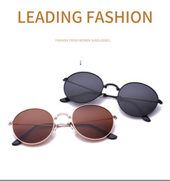 4b3cb405a26 High Quality Brand Designer Sunglasses for Men and Women Outdoor Sport  metal Dazzle colour round folding Polarized Sunglasses with case box