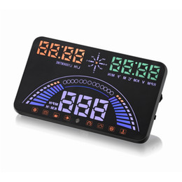Car Speed Projectors UK - S7 5.8inch GPS OBD2 HUD head-up display car windshield projector driving data speedometer speeding Warning fuel consumption display
