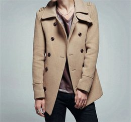 Discount Double Breasted Duffle Coat Men | 2017 Double Breasted ...