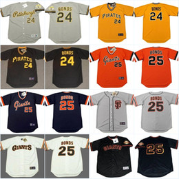 b6a4bc90a ... Mens Pittsburgh Pirates 24 25 Barry Bonds Jersey 1992 San Francisco  1970s 1980 Cooperstown Throwback Baseball ...