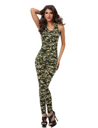 Discount soldier women costume - Sexy Women Army Uniforms Halloween Party Cosplay Costumes Women Role Play Soldier Camouflage Tops And Pants