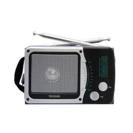 Small Speakers Radios Canada - Wholesale-TECSUN R-208 Small-sized Desktop FM   AM Radio Receiver