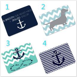 new custom nautical navy anchor theme door mat cover nonslip machine washable outdoor indoor decor rug home decor