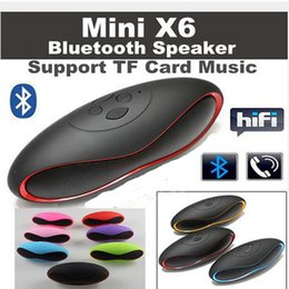 Audio Disks Canada - Hot Mini X6 Rugby Bluetooth Speaker X6u Portable Wireless Stereo Speakers X6U Hands-free Audio MP3 Player Subwoofer With U Disk TF Card