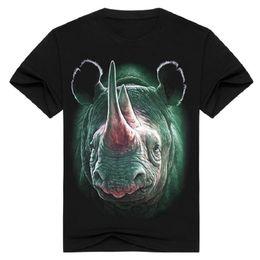 $enCountryForm.capitalKeyWord Canada - 2017 Fashion streetwear men's 3D Rhinoceros print t-shirt short sleeve metal rock animal clothing t shirt black o neck Tops tshirt BMTX20 F