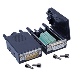 Block connectors online shopping - DB15 D Sub Pin Dual Row Connectors to Terminal Blocks Adapter
