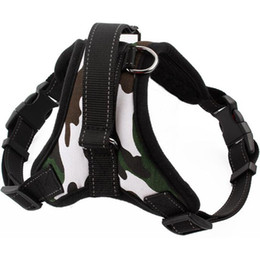 Chinese  Camo Pet Harness Adjustable Reflective Outdoor Army Harness for Big Dogs manufacturers