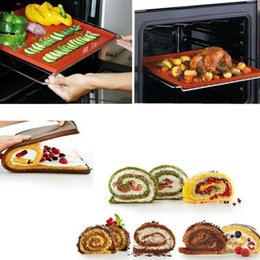 swiss rubber 2019 - Wholesale- 31*27cm Non-Stick Silicone Multifunction Oven Mat Baking Cake Pad Swiss Roll Pad Bakeware Baking Tools WholeS