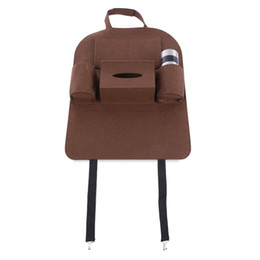 Car seat holder organizer online shopping - Car Vehicle Seat Back Tidy Organizer Multi pocket Holder Pouch Storage Bag Felt Material with Multi pocket Design Universal