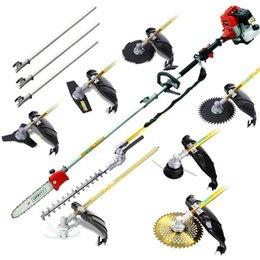 Neues Modell 7 in 1 Gartenrimmer 52cc Multi Pinsel Cutter Gras Schneidemaschine Whipper Sniper Pole Kettensäge, Heckenbefestigung mit Metallklingen, Nylonköpfe, Erweiterung im Angebot