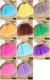 Robes De Ballet De Danse Enfantine Pas Cher-New Little Girls Cheap TUTU robe Baby Toddlers ballet robes 3layers danse pour enfants 17Colour Pettiskirt 2017 nouvelle expédition rapide d'été
