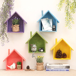 online shopping Small House Wall Decor Fruits Wooden Home Products Sundries Storage Holders Organizer Jewelry Box Wall Hanger Decoration