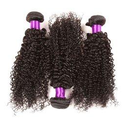 Toptan satış 10A Kraliçe Saç 4 Paketler Brezilyalı Bakire Kıvırcık Örgü Brezilyalı kinky kıvırcık% 100% İnsan Saç uzantıları Ücretsiz kargo