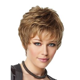 China Cheap Short Wig Curly Fluffy Hair Wigs Full Bang Wig for Black Women Europe Heat Resistant Beige Synthetic Wig supplier black women wigs bangs suppliers