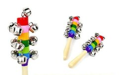 $enCountryForm.capitalKeyWord NZ - Baby Rainbow Toy kid Pram Crib Handle Wooden Activity Bell Stick Shaker Rattle Children toys HYH 001