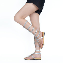 Rhinstone Buckles UK - Kolnoo Handcrafted Womens New Arrival Flats Heel Peep Toe Sandals Buckle Straps Rhinstone Deco Party Dress Summer Sexy Fashion Shoes XD405