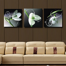 Flower oil painting pictures online shopping flower oil painting 3 pcs set pure white flowers canvas oil wall art flowers painting home decorative cheap art picture paint on canvas prints 115 mightylinksfo
