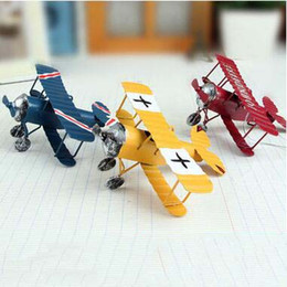 $enCountryForm.capitalKeyWord Canada - Zakka metal Restoring handicrafts Tin plane Model furnishing articles Creative home decorative iron plane Arts and Crafts birthday gifts