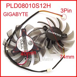 power logic fans 2019 - Wholesale- Free Shipping 2pcs lot POWER LOGIC PLD08010S12H 3Pin 74mm DC12V 0.25A 40*40*40mm For GIGABYTE Graphics Card C
