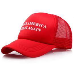 China Designer Make America Great Again Letter Mesh Baseball Caps Donald Trump President Sports Trucker Hats For Adults Men Women Summer Sun Visor supplier black baseball caps suppliers