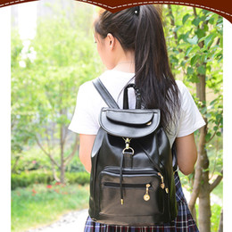 $enCountryForm.capitalKeyWord Canada - 1pc Designer Bags PU Leather Backpacks Black Weave School Bags For Teenagers Girls Outdoor School Bags Student Backpack