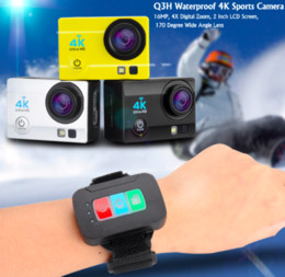 new professional camcorders 2019 - 2017 Selling Q3H 4K Ultra HD 1080P Waterproof Sports Camera 16MP LCD Camcorder Wifi Remote cheap new professional camcor