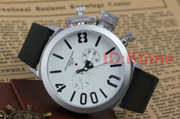 Pin hooks online shopping - 2019 designer Mens watch Sports mm Big Boat Silver Black Rubber Classic Round Automatic Mechanical Left Hook Hand U male Watches
