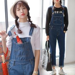b7ae8fd483fe Wholesale- Earoomze 2017 Fashion Women s Bib Overalls Jeans Casual Cotton  Woman Blue Denim Jumpsuits Girls Loose Dungarees Jean Pant