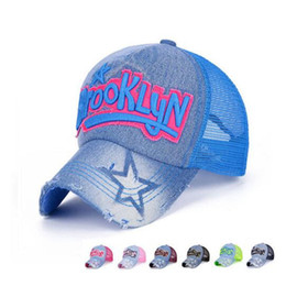 Caps Summer For Girls Pas Cher-Sun Outdoor Baseball Cap Mesh Marque Snapback Hat Trucker Cap New York Baseball Caps Hommes Femmes Femmes Garçons Summer Mesh Cap