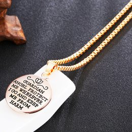 Discount easter gifts for wife 2018 easter gifts for wife on fashion guardian angel protect me letter pendant necklace angel relief for wom wife girlfriend gift free shipping inexpensive easter gifts for wife negle Images