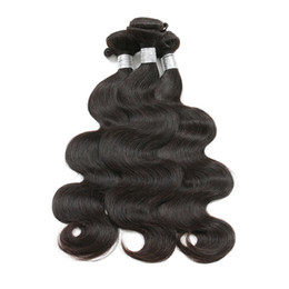 Buy Wholesale Brazilian Human Hair UK - Brazilian Virgin Hair Body Wave Kinky Curly Straight Hair Bundles 100% Human Hair Weaves Natural Color 8-26 Inch Can Buy 3 4 Bundles