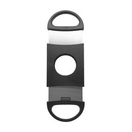 $enCountryForm.capitalKeyWord UK - New pocket plastic stainless steel double blades cigar cutter knife scissors tobacco black color smoking accessories