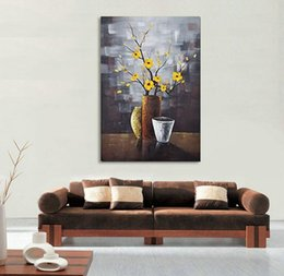 Modern Abstract Flower Paintings Canada - Free Shipping No fremde Modern 100% Hand-painted Oil Paintings Artwork Contemporary Abstract Flower Oil Paintings Home Decor