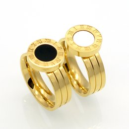 $enCountryForm.capitalKeyWord Canada - Fashion Women Men Brand Jewelry Silver Gold Stainless Steel Rings Roman Numerals Titanium Steel Ring