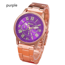 Stainless Steel Unisex Luxury Watches Canada - Luxury Brand Geneva Watch Stainless Steel Quartz Analog Wristwatch Fashion Men Women Unisex Casual Watches Christmas Birthday Gift Watch