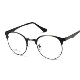 baea7e207d Eye Glasses Frame Estilo de aleación Unisex Hipster Vintage Retro Classic  Half Frame Glasses Clear Lens Nerd Eye-wear gls001