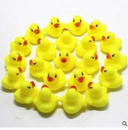 Toys For Cheap NZ - Cheap Mini Yellow Rubber Ducks Baby Bath Water Toys for sale Kids Bath PVC Duck with sound Floating Duck wholesale
