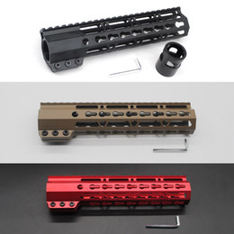 m4 picatinny rail NZ - 9'' Clamping Slim Keymod Handguard Free Float Picatinny Rail Mount System Black Tan Red Color Fit .223 5.56 Rifle AR-15 M4 M16
