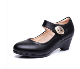 $enCountryForm.capitalKeyWord UK - The new 2017 spring thick with women's shoes in Europe and the United States leather shoes, work shoes shoes with my mother